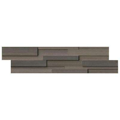 Brown Wave 3D Ledger Panel 6 In. X 24 In. Honed Sandstone Wall Tile