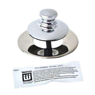 Universal NuFit Push Pull Bathtub Stopper, Non-Grid Strainer and Silicone, Chrome Plated