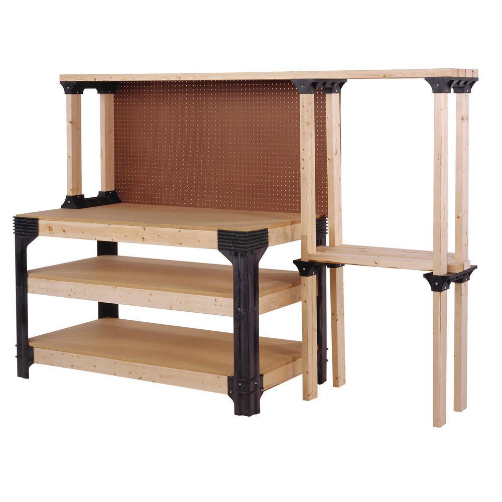 Workbench with Shelflinks, Black
