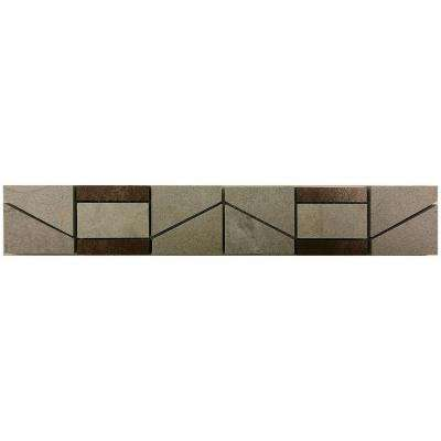 Developed by Nature Pebble 2 in. x 12 in. Porcelain and Metal Resin Deco Wall Tile