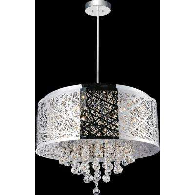Eternity 9-Light Chrome Chandelier