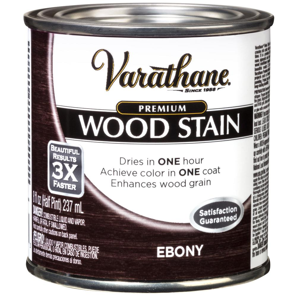 Wood Stain Products: Varathane 8 Oz. Ebony Premium Fast Dry Interior Wood Stain