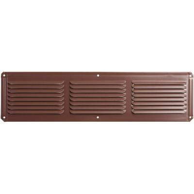 16 in. x 4 in. Aluminum Under Eave Soffit Vent in Brown (Carton of 36)