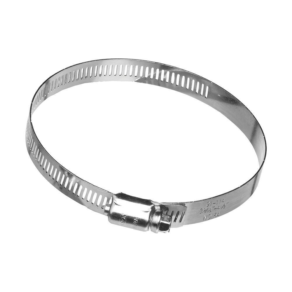 4 in. Galvanized Steel Worm Gear Clamp