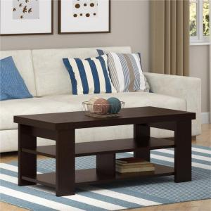 Altra Furniture Jensen Black Forest Built-In Storage Coffee Table by Altra Furniture