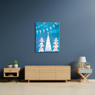 """""""Very Merry Blue"""" by Katie Doucette Unframed Wall Art"""