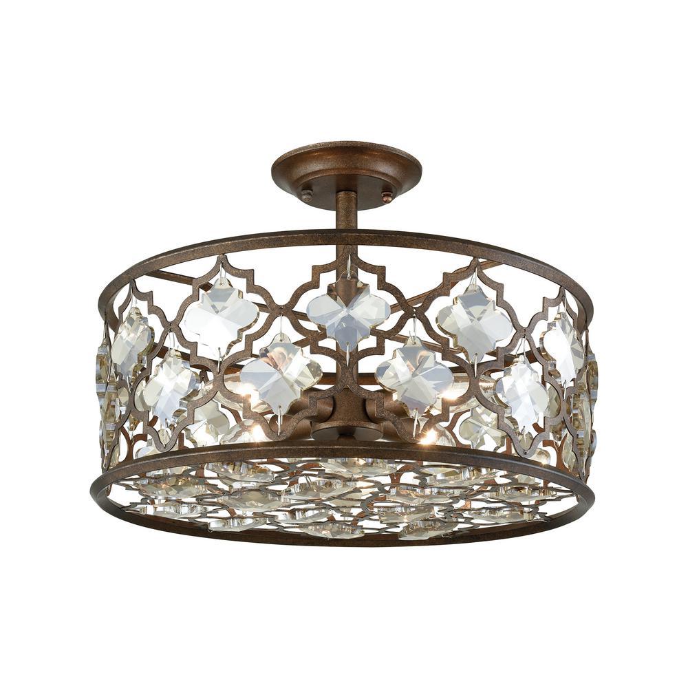 Titan Lighting Armand 4-Light Weathered Bronze With