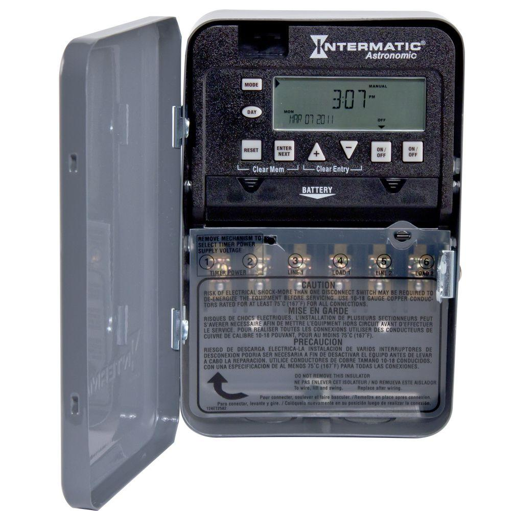 Intermatic 30 Amp 7-Day DPST 2-Circuit Astronomic Time Switch