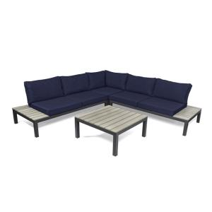 Tortuga Outdoor Lakeview Aluminum Outdoor Sectional Set