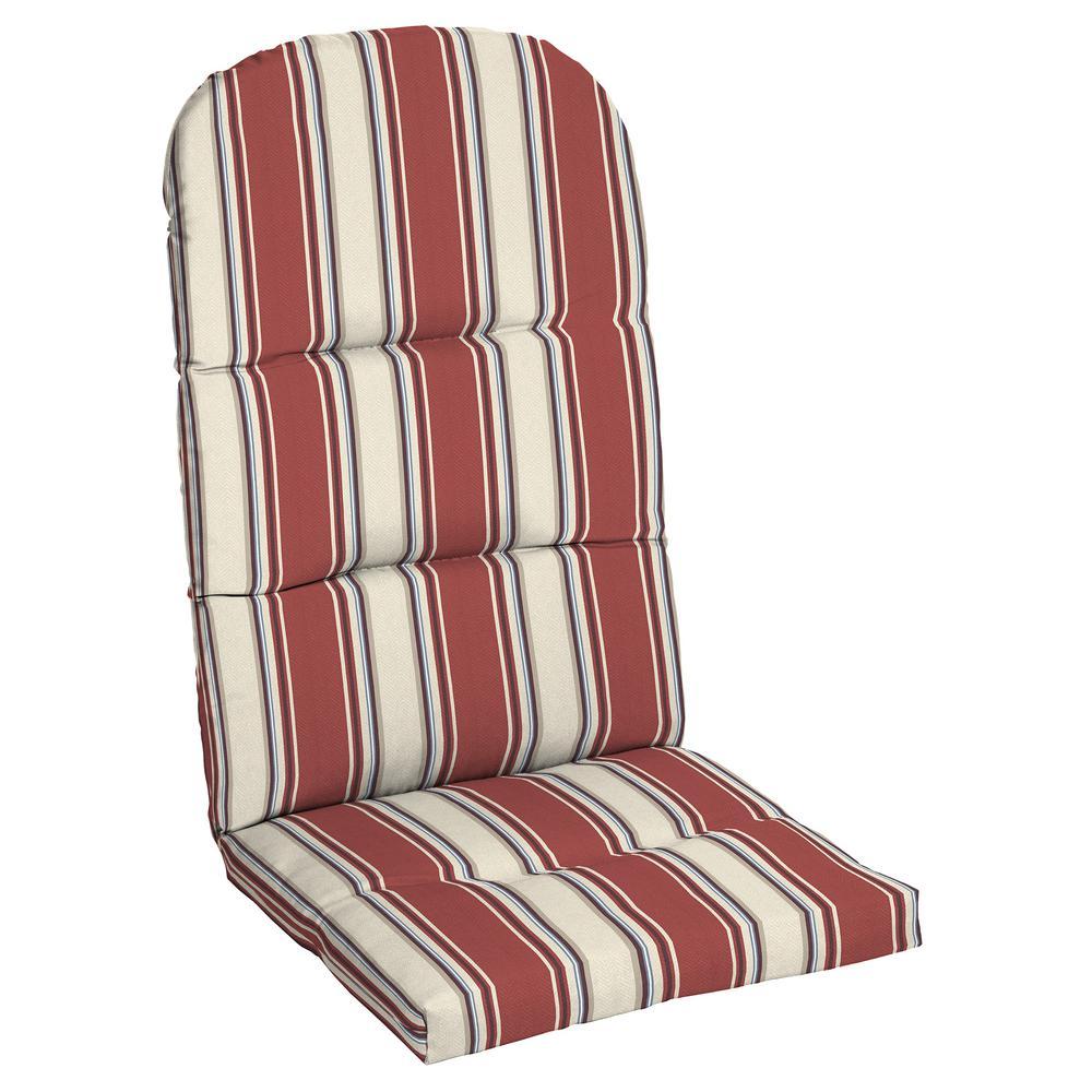20.5 in. x 31 in. Chili Herringbone Stripe Outdoor Adirondack Chair Cushion