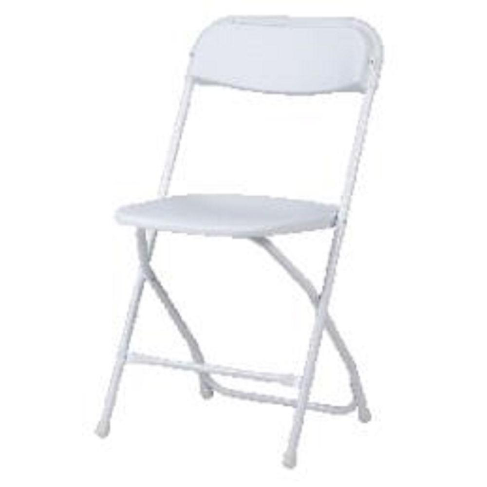 Cosco Commercial Heavy Duty Resin Folding Chair With Comfortable Contoured  Back In White (8