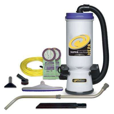 Super CoachVac HEPA 10 qt. Backpack Vac with Xover Multi-Surface Telescoping Wand Tool Kit
