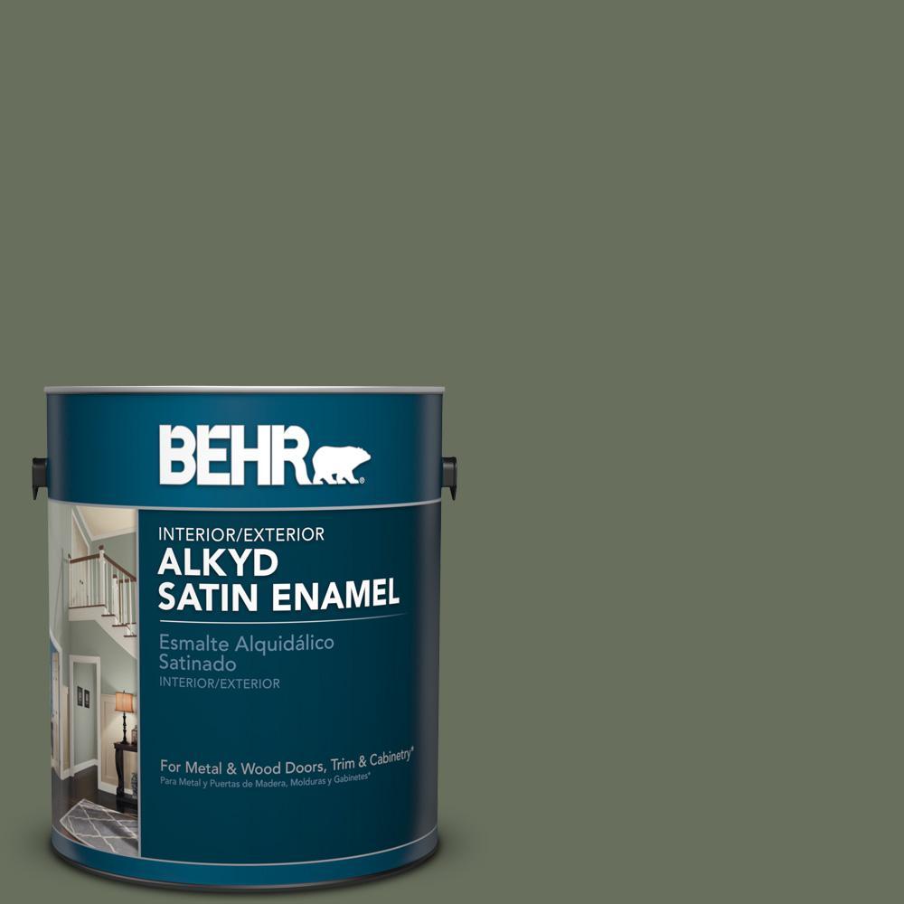 1 gal. #N390-6 Laurel Garland Satin Enamel Alkyd Interior/Exterior Paint