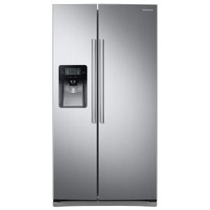 Samsung 24.5 cu. ft. Side by Side Refrigerator in Stainless Steel-RS25J500DSR