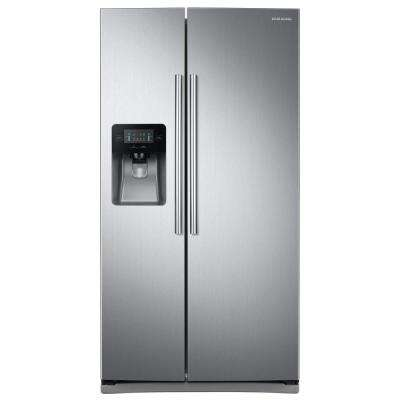 24.5 cu. ft. Side by Side Refrigerator in Stainless Steel