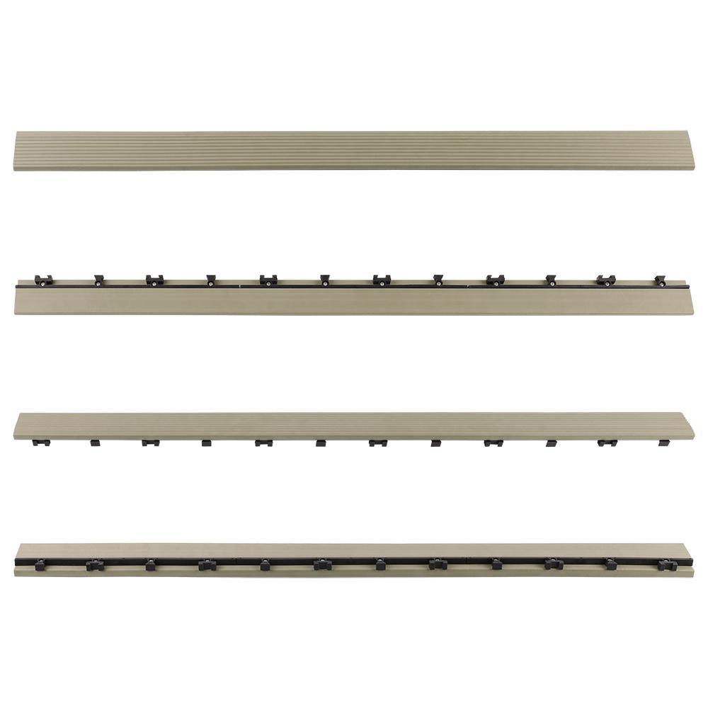 1/6 ft. x 3 ft. Quick Deck Composite Deck Tile Straight Fascia in Roman Antique (2-Pieces per Box)