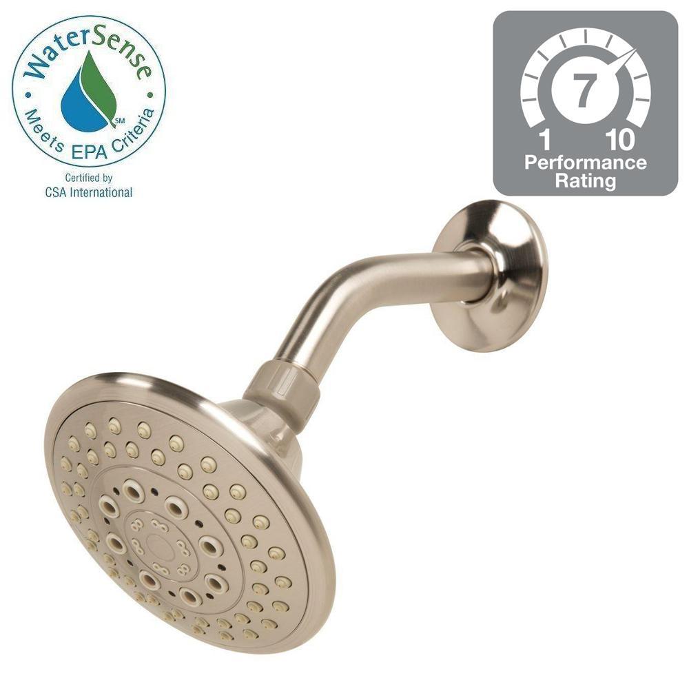 5-Spray 5 in. Fixed Showerhead in Brushed Nickel