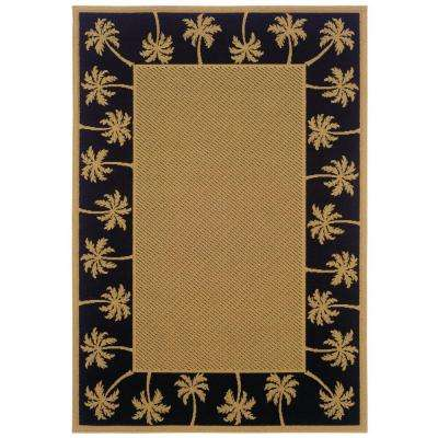 Nevis Passage Black/Tan 8 ft. 6 in. x 13 ft. Area Rug