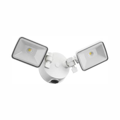 Contractor Select OLF 60-Watt Equivalent White Dusk to Dawn Outdoor Integrated LED 2-Light Square Flood Light