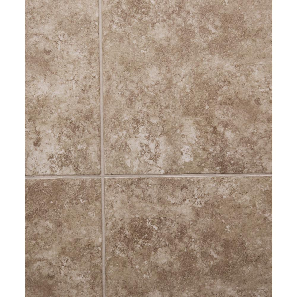 Hydri-Core 18 in. x 36 in. Medina Grouted Embossed HDPC Vinyl