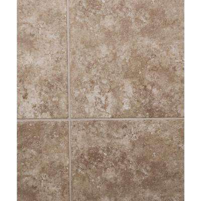 Hydri-Core 18 in. x 36 in. Medina Grouted Embossed HDPC Vinyl Tile (18 sq. ft. / case)