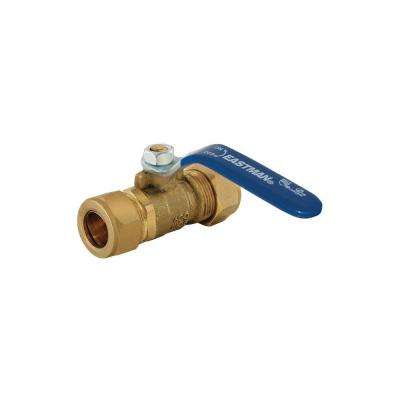 1/2 in. Compression x 1/2 in. Compression Brass Full Port Ball Valve Compression
