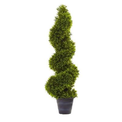 3 ft. Grass Spiral Topiary with Deco Planter
