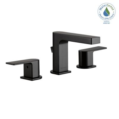 Xander 8 in. Widespread 2-Handle Bathroom Faucet in Matte Black