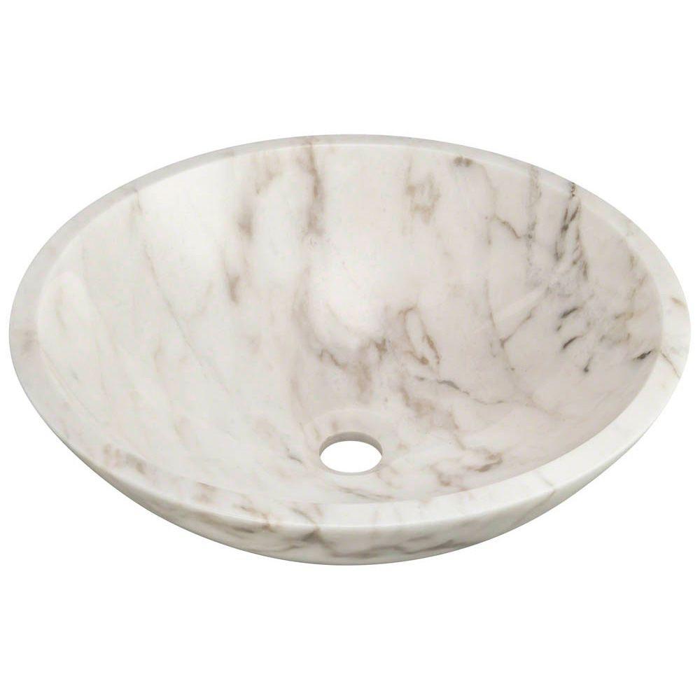 MR Direct Stone Vessel Sink in Honed Basalt White Granite by MR Direct