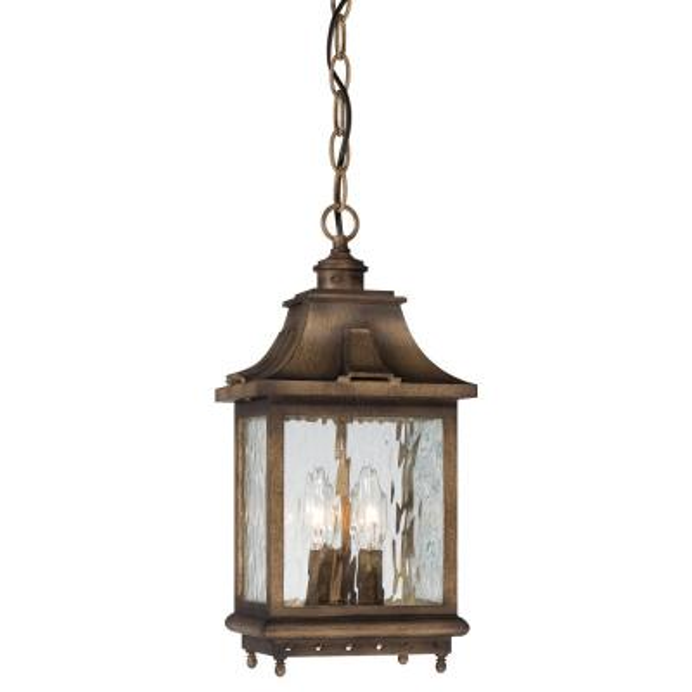 Wilshire Park 3-Light Portsmouth Bronze Outdoor Hanging Light