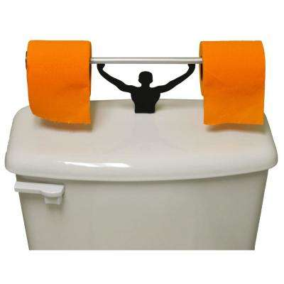 Blaze Orange Toilet Paper in Multi-Color with Strong Man Holder Hunter Gift Set
