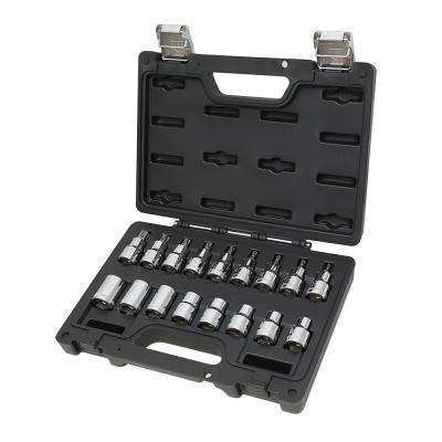 1/2 in. Drive Hand Socket Set for Torx Head Screws (17-Piece)