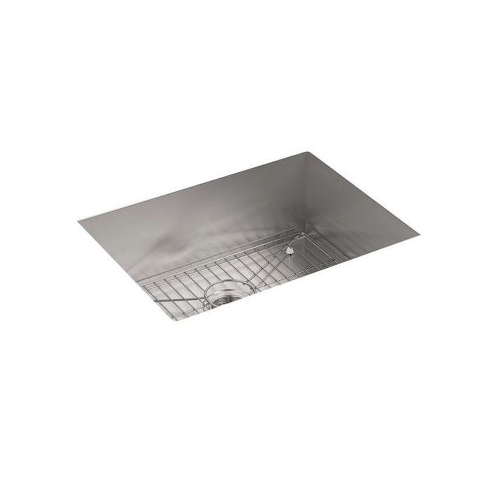 Vault Drop In Dual Mount Stainless Steel 25 4 Hole Single Bowl Kitchen Sink Kit With Bottom Rack
