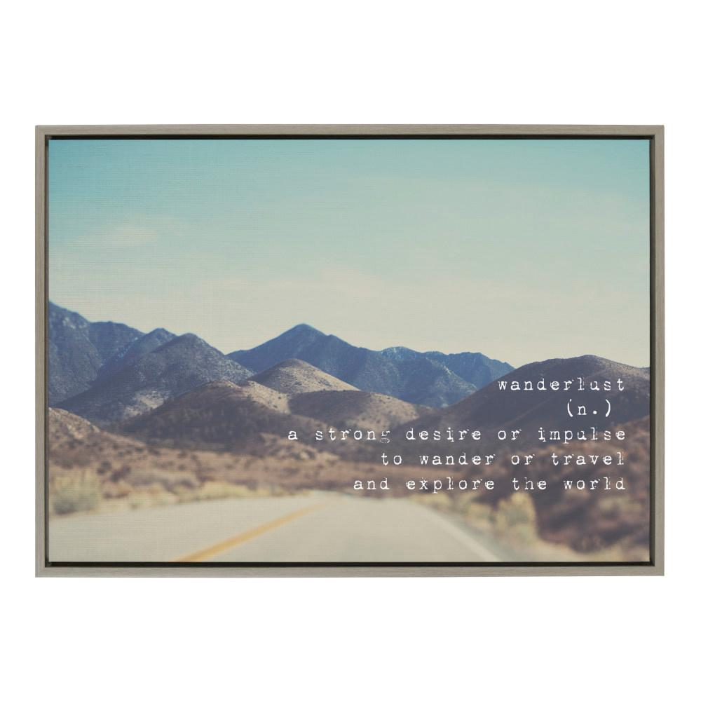 Kate And Laurel Sylvie Wanderlust Sierra Nevada Mountains By Laura Evans Framed Canvas Wall Art 33 In X 23 In 218480 The Home Depot
