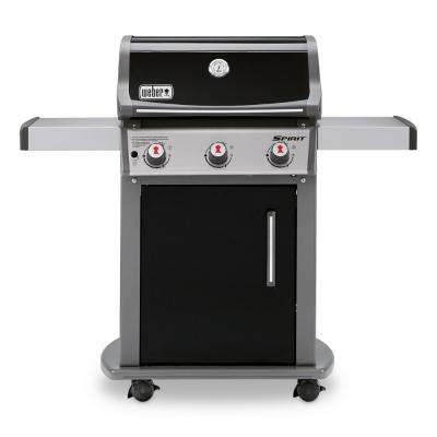 Spirit E-310 3-Burner Propane Gas Grill in Black with Built-In Thermometer