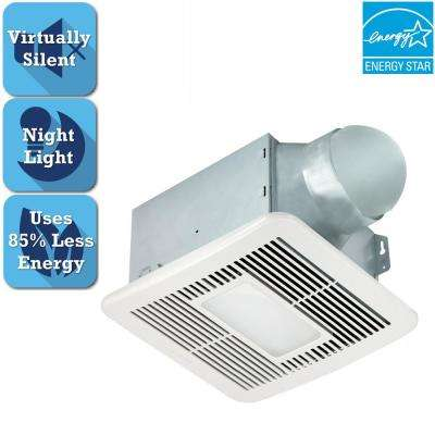 Smart Series 150 CFM Ceiling Bathroom Exhaust Fan with LED Light and Night Light