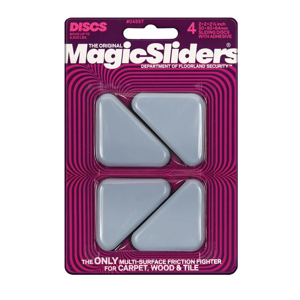 2-1/2 in. x 2 in. x 2 in. Triangle Magic Sliders (4-Pack)