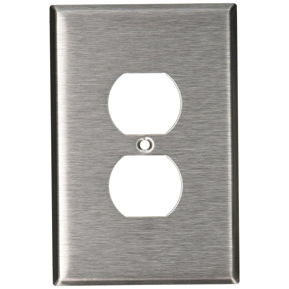 Metal Electrical Outlet Covers Oversized Outlet Covers: Leviton 1-Gang 1 Duplex Receptacle, Large/Jumbo Size Wall