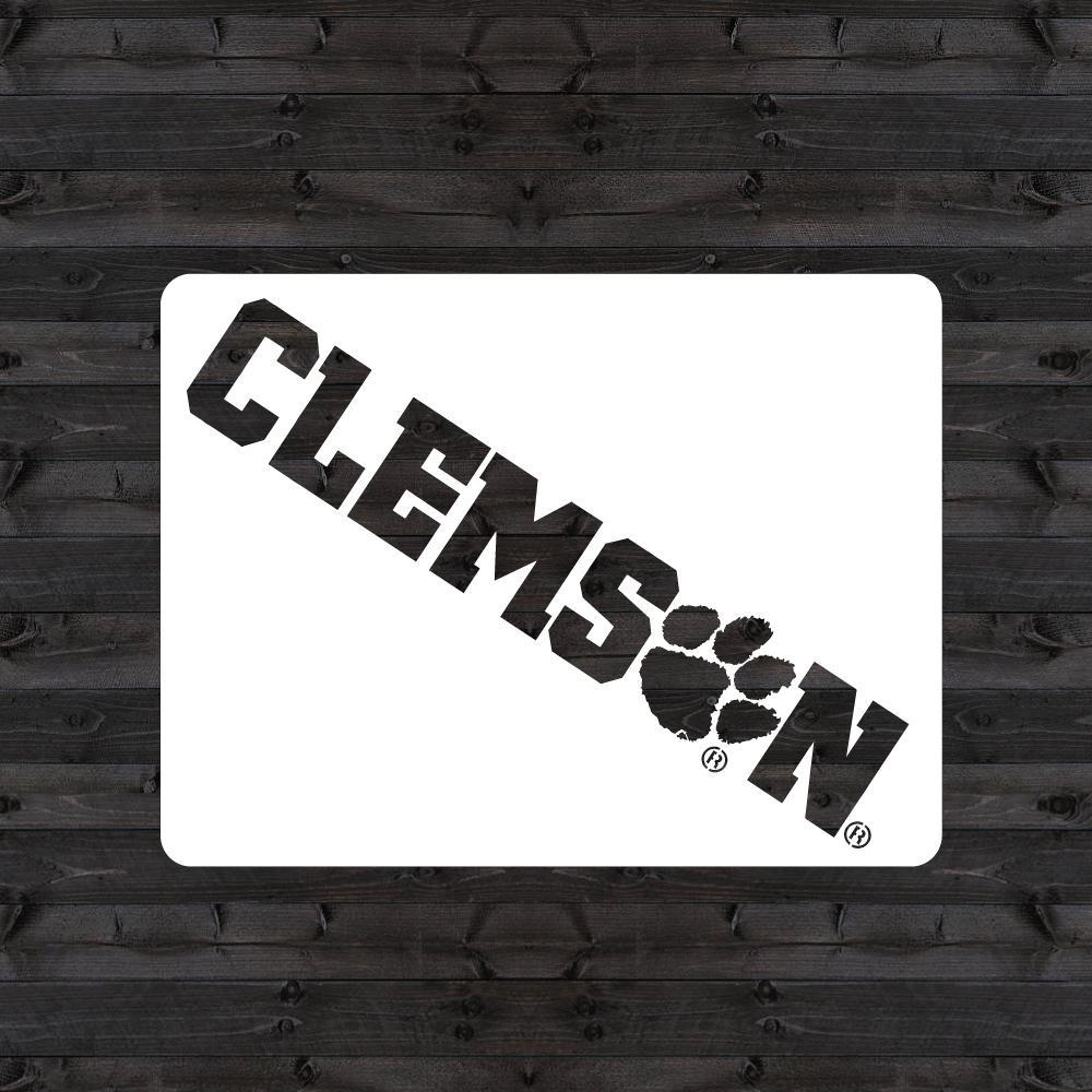 """CLEMSON"" Mini Stencil"