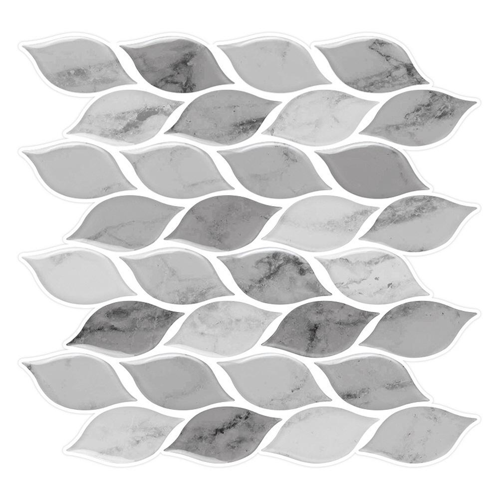 Tic Tac Tiles Foglia Grigio 10 in. W x 10 in.