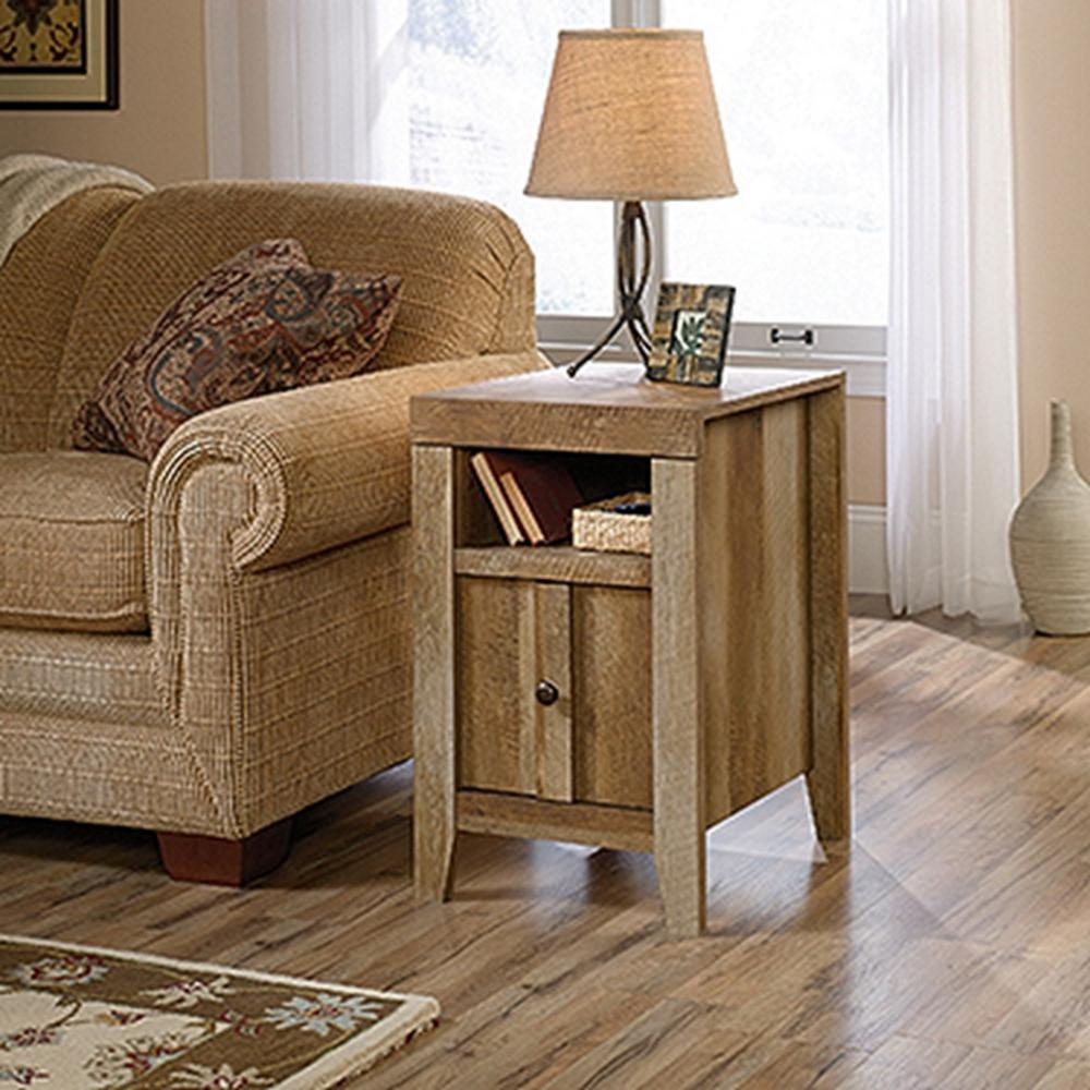 SAUDER Dakota Pass Craftsman Oak Storage Side Table