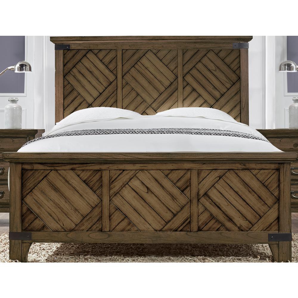 Baltimore Queen Bed in Vintage Brown