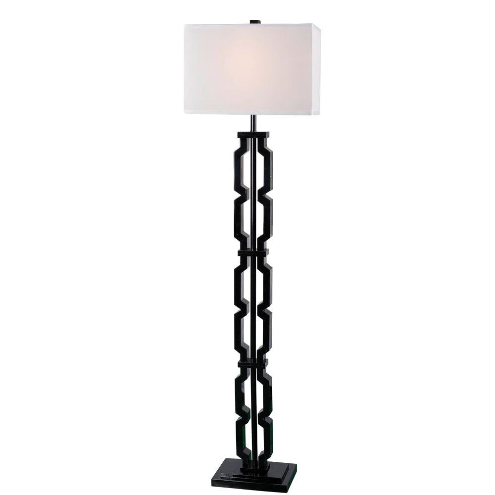 Octo 60 in. H Black Floor Lamp