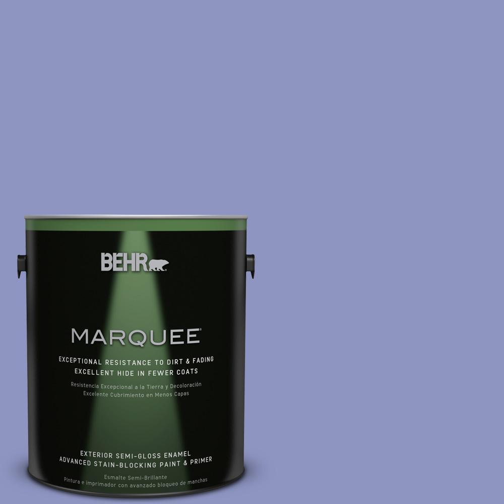 BEHR MARQUEE 1-gal. #610B-4 Intuitive Semi-Gloss Enamel Exterior Paint