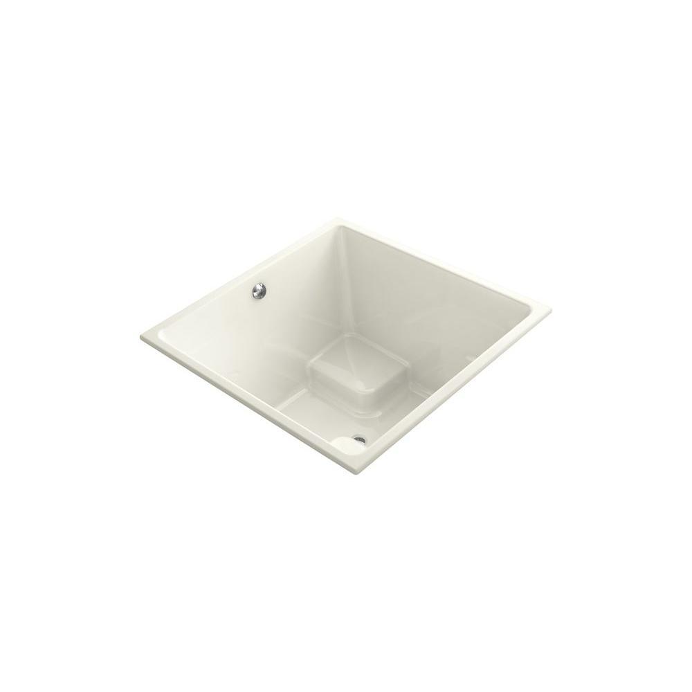 KOHLER Underscore 4 ft. Center Drain Bathtub in Biscuit