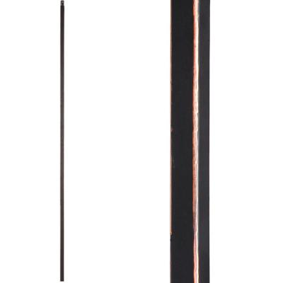 Versatile 44 in. x 0.5 in. Oil Rubbed Copper Plain Square Bar Hollow Wrought Iron Baluster