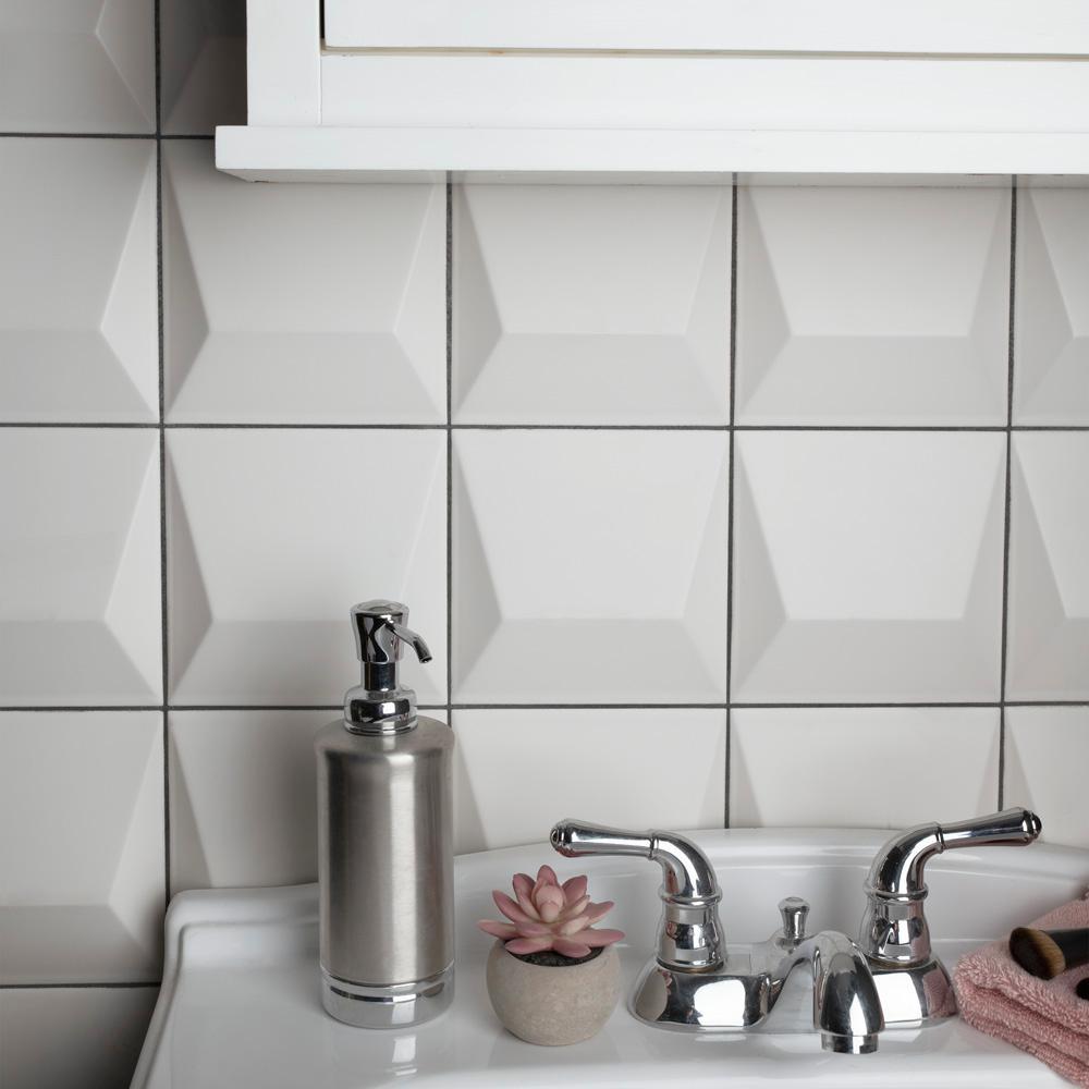 Kitchen Tile Intermittent Accent Tiles In A Kitchen Backsplash