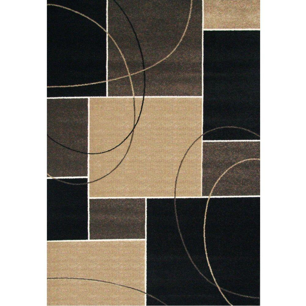 Casa Quincy Chocolate 5 ft. x 8 ft. Area Rug-3604-211-5x8 - The Home Depot b2255fe09e327