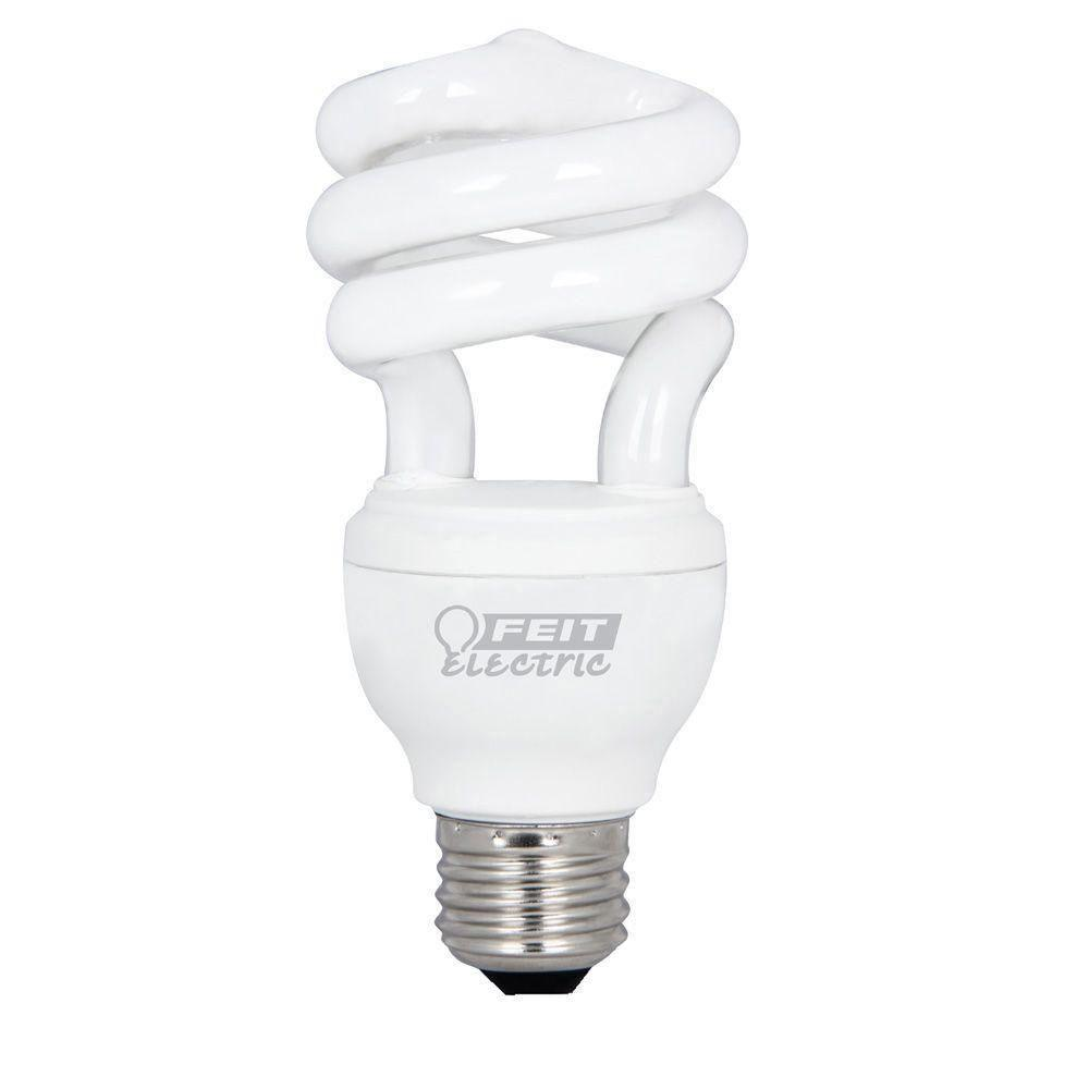 Feit Electric 60W Equivalent Soft White (2700K) Spiral Dimmbale CFL Light Bulb (12-Pack)