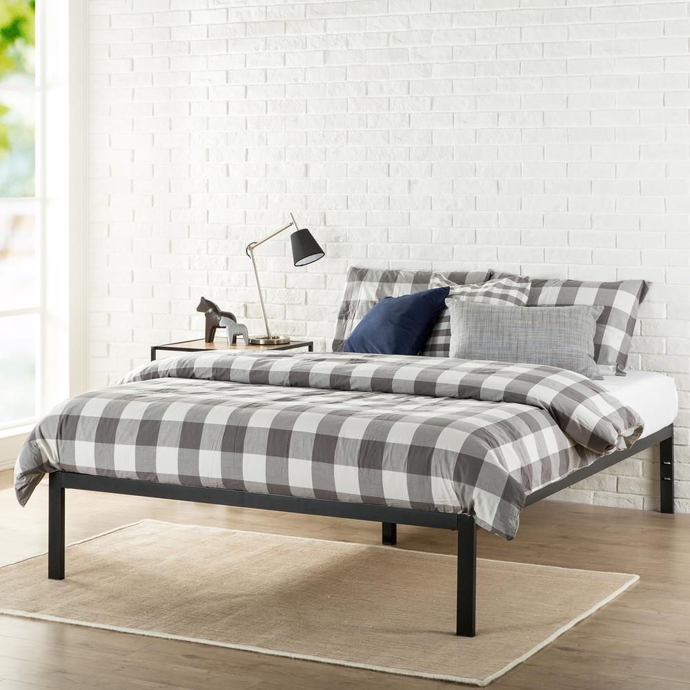 Zinus Platform 1500 Full Metal Bed Frame-HD-ASMP-15F - The Home Depot